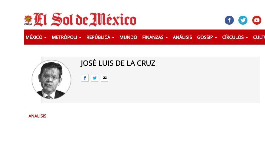 El Sol de Mexico Jose Luis de la Cruz