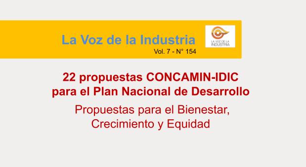 Título: 22 propuestas CONCAMIN-IDIC para el PND