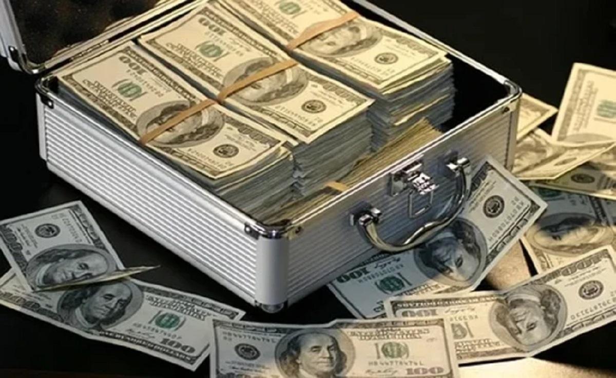 maletin dolares usd dinero billetes efectivo