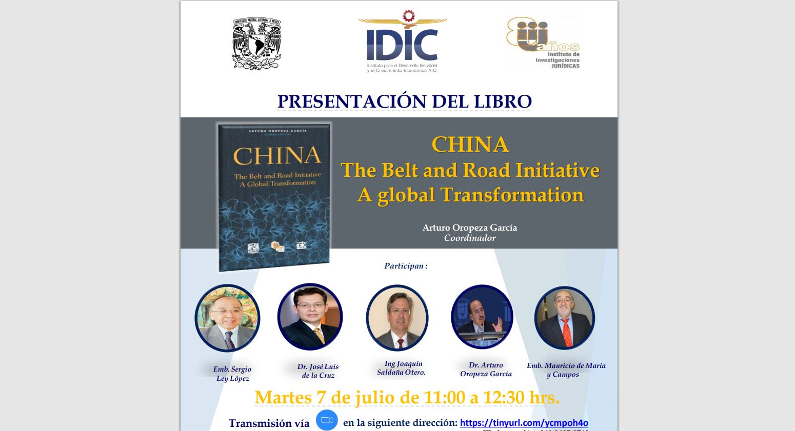 china the belt and road initiative arturo oropeza idic iij unam poster horiz