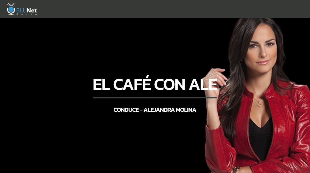 blunet radio el cafe con ale molina logo